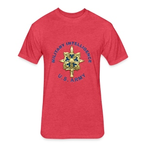 MI Branch Insignia - Fitted Cotton/Poly T-Shirt by Next Level