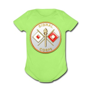 Signal Corps Branch Plaque - Short Sleeve Baby Bodysuit