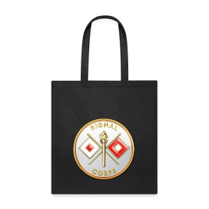 Signal Corps Branch Plaque - Tote Bag
