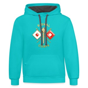 Signal Corps Branch Insignia - Contrast Hoodie