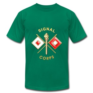 Signal Corps Branch Insignia - Men's T-Shirt by American Apparel