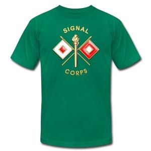 Signal Corps Branch Insignia - Men's Fine Jersey T-Shirt