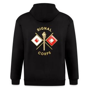 Signal Corps Branch Insignia - Men's Zip Hoodie
