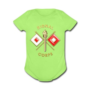 Signal Corps Branch Insignia - Short Sleeve Baby Bodysuit
