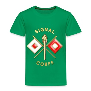 Signal Corps Branch Insignia - Toddler Premium T-Shirt