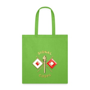 Signal Corps Branch Insignia - Tote Bag