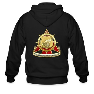 Transportation Corps DUI - Men's Zip Hoodie