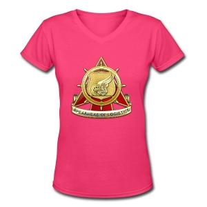 Transportation Corps DUI - Women's V-Neck T-Shirt
