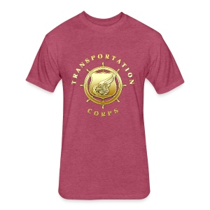 Transportation Corps Branch Insignia - Fitted Cotton/Poly T-Shirt by Next Level