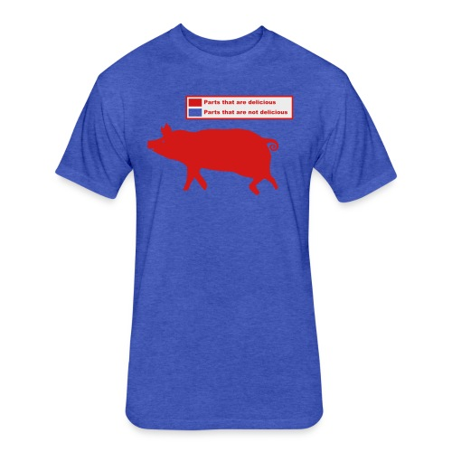 Pig Butchering Guide - Women's Classic - Fitted Cotton/Poly T-Shirt by Next Level