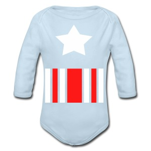 Captain America Inspired T-shirt - Long Sleeve Baby Bodysuit