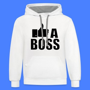 Like A Boss Thumbs Up Women's T-Shirts - Contrast Hoodie