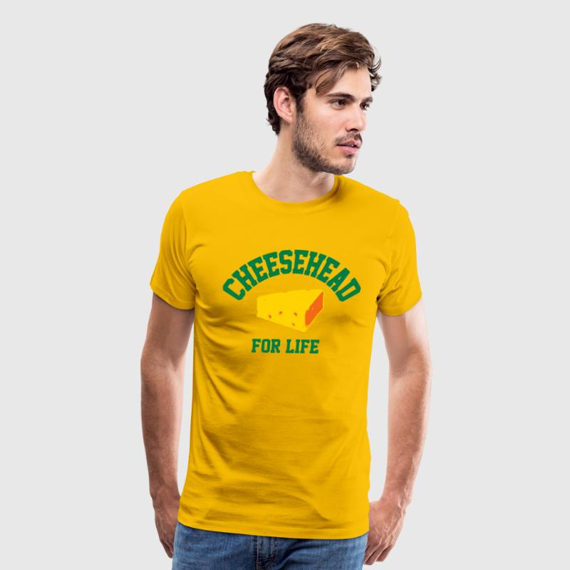 Cheesehead for life T-Shirts - Men's Premium T-Shirt
