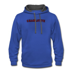 Charlotte T-Shirt College Style - Contrast Hoodie