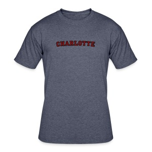 Charlotte T-Shirt College Style - Men's 50/50 T-Shirt