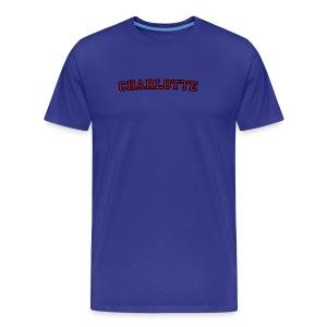 Charlotte T-Shirt College Style - Men's Premium T-Shirt