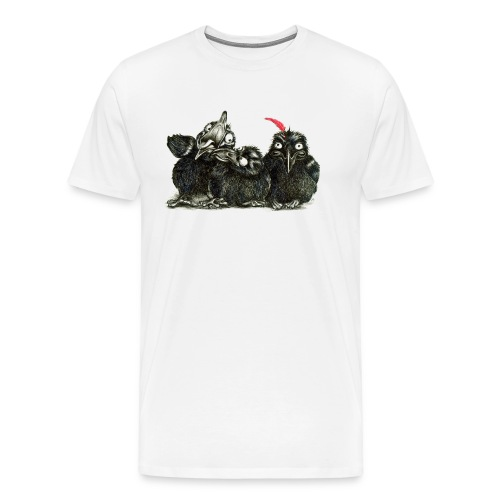 Three Young Crows - Men's Premium T-Shirt