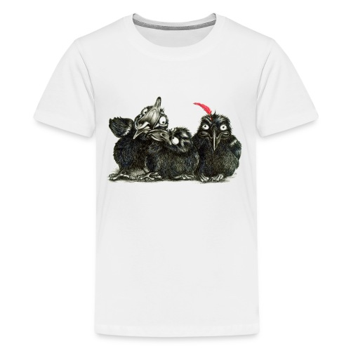 Three Young Crows - Kids' Premium T-Shirt