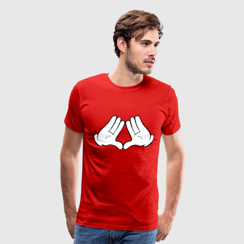 Mickey Mouse Diamond Hands Men's T-Shirt - Men's Premium T-Shirt