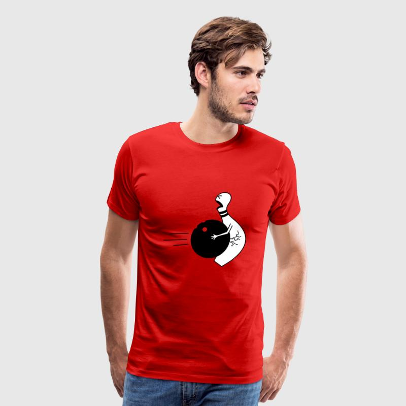 bowling ball in the nuts T-Shirts - Men's Premium T-Shirt