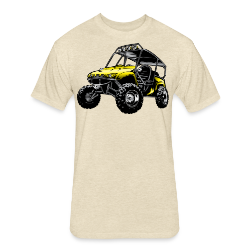 UTV side-x-side yamaha, yellow - Fitted Cotton/Poly T-Shirt by Next Level