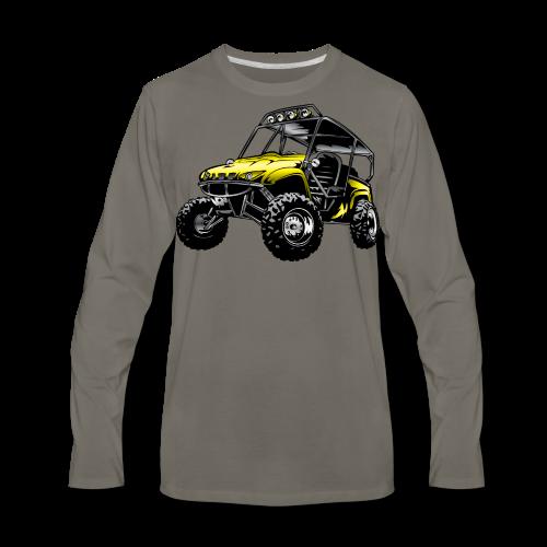 UTV side-x-side yamaha, yellow - Men's Premium Long Sleeve T-Shirt