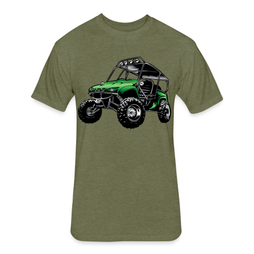 UTV side-x-side, green - Fitted Cotton/Poly T-Shirt by Next Level