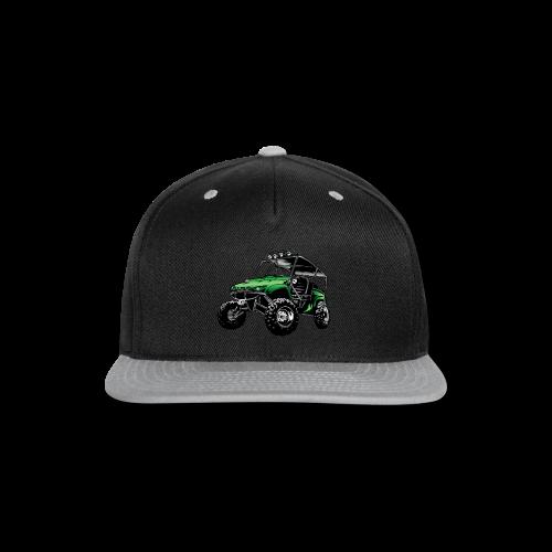 UTV side-x-side, green - Snap-back Baseball Cap
