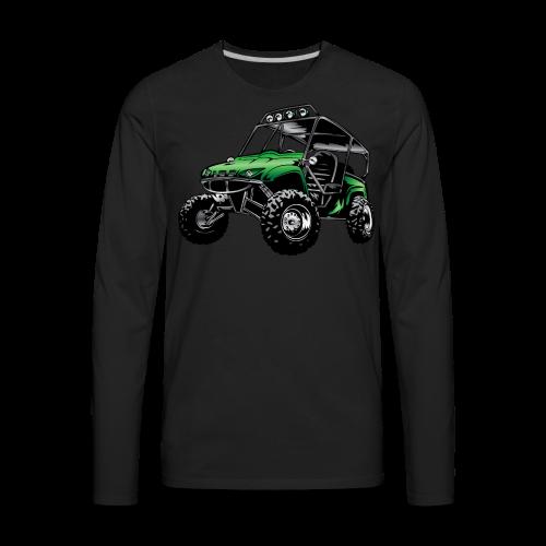 UTV side-x-side, green - Men's Premium Long Sleeve T-Shirt