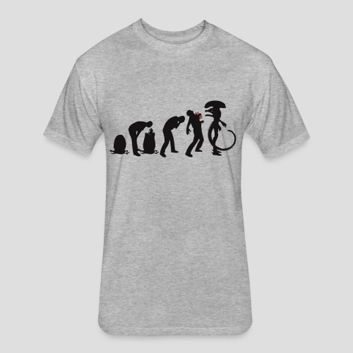 Alien Evolution - Fitted Cotton/Poly T-Shirt by Next Level