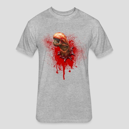 Alien Chestburster - Fitted Cotton/Poly T-Shirt by Next Level