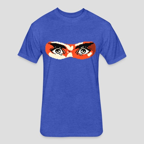 Ninja Gaiden mask - Fitted Cotton/Poly T-Shirt by Next Level