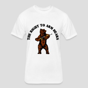 The right to arm bears - Fitted Cotton/Poly T-Shirt by Next Level