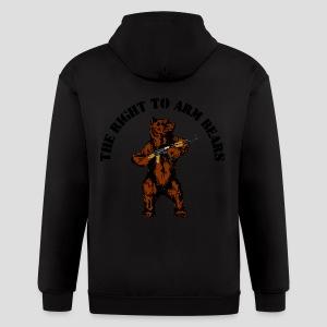 The right to arm bears - Men's Zip Hoodie
