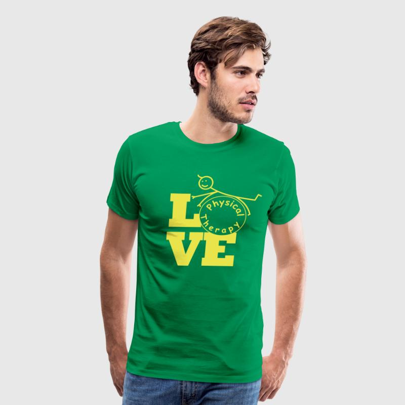 LOVE physical therapy  T-Shirts - Men's Premium T-Shirt