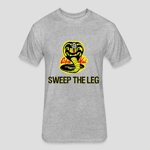 Sweep The Leg - Fitted Cotton/Poly T-Shirt by Next Level