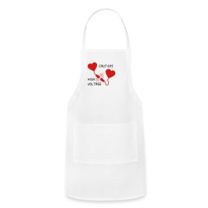 hearts high voltage_g1 Women's T-Shirts - Adjustable Apron