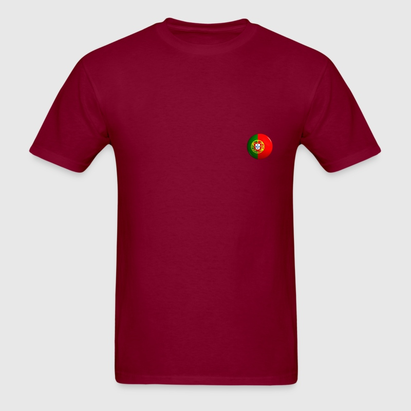 Country Button Flag Portugal - Men's T-Shirt
