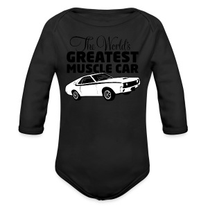 Greatest Muscle Car - Javelin - Long Sleeve Baby Bodysuit