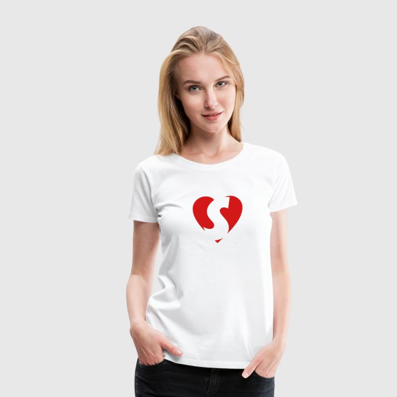 I love S T-Shirt - Heart S - Heart with letter S - Women's Premium T-Shirt