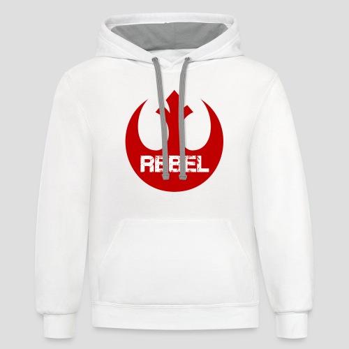 Rebel Insignia  - Contrast Hoodie