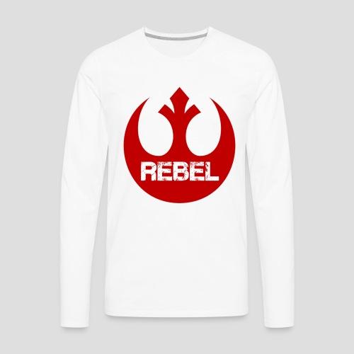 Rebel Insignia  - Men's Premium Long Sleeve T-Shirt