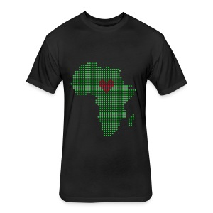 For the Love of Africa - Fitted Cotton/Poly T-Shirt by Next Level