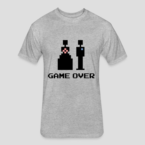 8 Bit Game Over Marriage - Fitted Cotton/Poly T-Shirt by Next Level