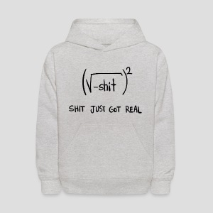 Shit Just Got Real Math Equation - Kids' Hoodie