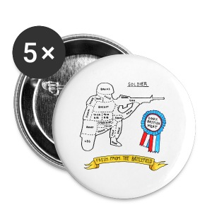 100% British Soldier (Heavyweight T-shirt) - Small Buttons