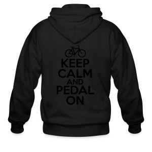 Keep Calm and Pedal On - Men's Zip Hoodie