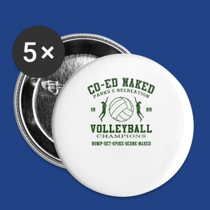 CO-ED Naked Volleyball - Small Buttons