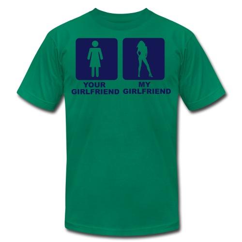 YOUR GF , MY GF - Men's Fine Jersey T-Shirt