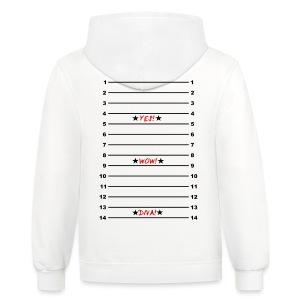 Length Check T-Shirt Yes! Wow! Diva! - Contrast Hoodie